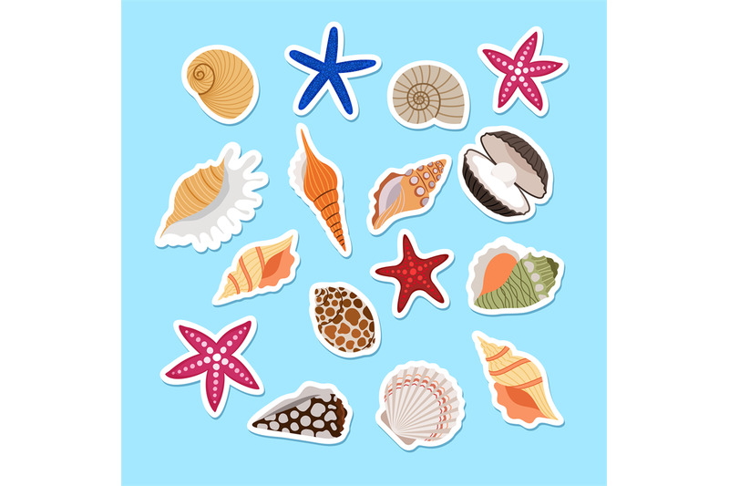 sea-shells-cute-stickers