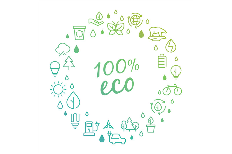 eco-products-logo-concept-with-line-icons