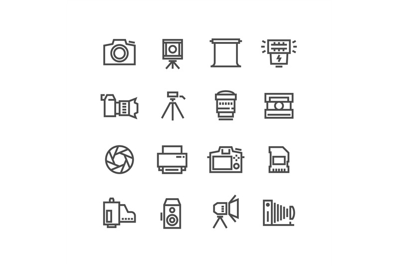 camera-on-tripod-photo-lens-and-photography-equipment-line-vector-ico