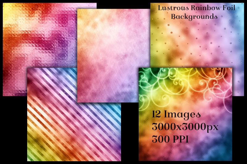 lustrous-rainbow-foil-backgrounds-12-image-textures-set