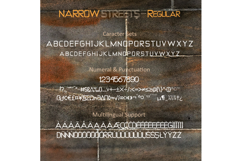 narrow-streets-a-display-font