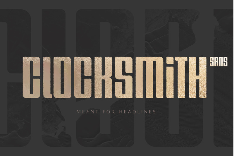 clocksmith-bold-display-font