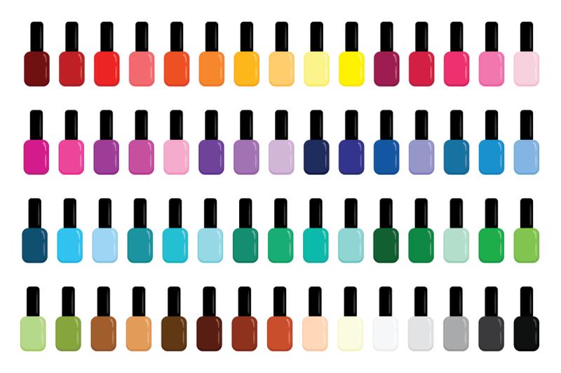 nail-polish-bottle-amp-brush-clip-art-set