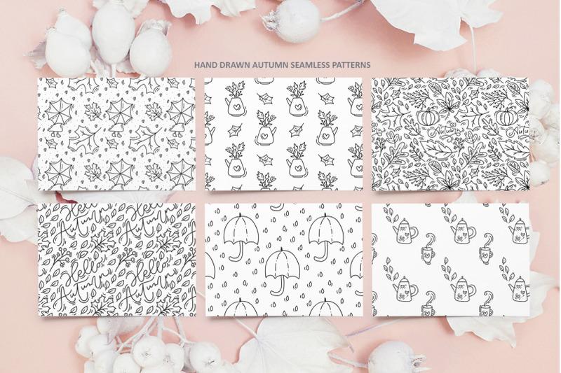 monoline-vector-autumn-floral-elements
