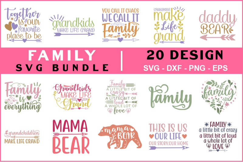 family-quotes-svg-bundle