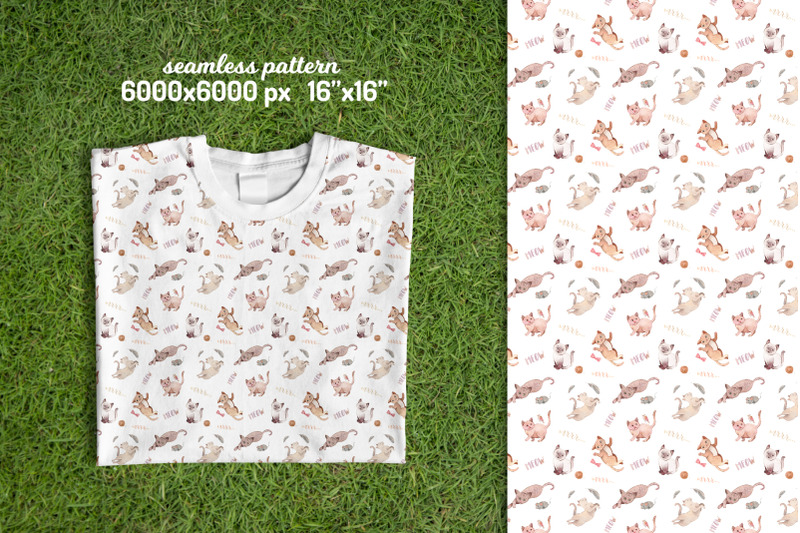 cute-cats-seamless-patterns-collection