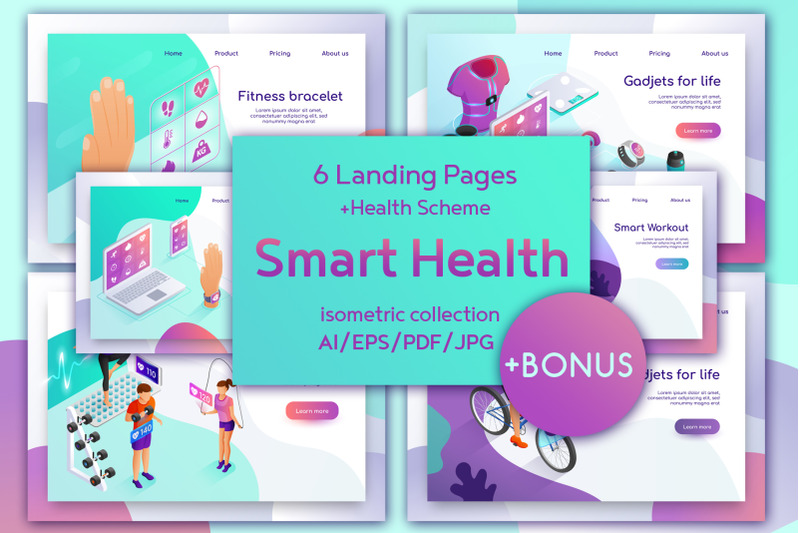 smart-health-isometric-design