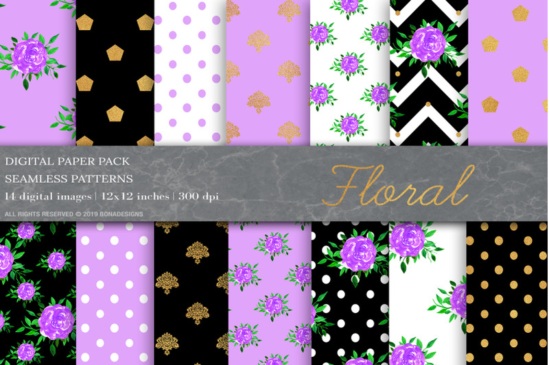 purple-gold-digital-papers-shabby-chic-digital-papers