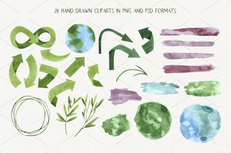 zero-waste-2-watercolor-illustrations-set