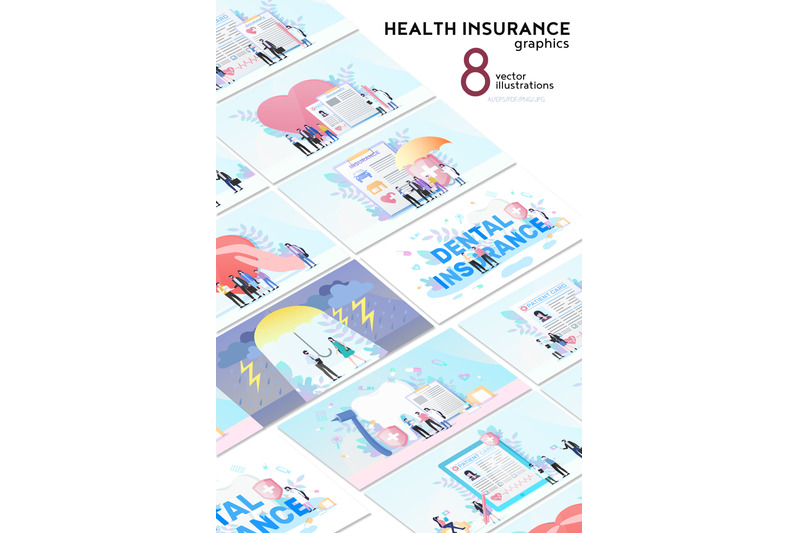 health-insurance-flat-collection