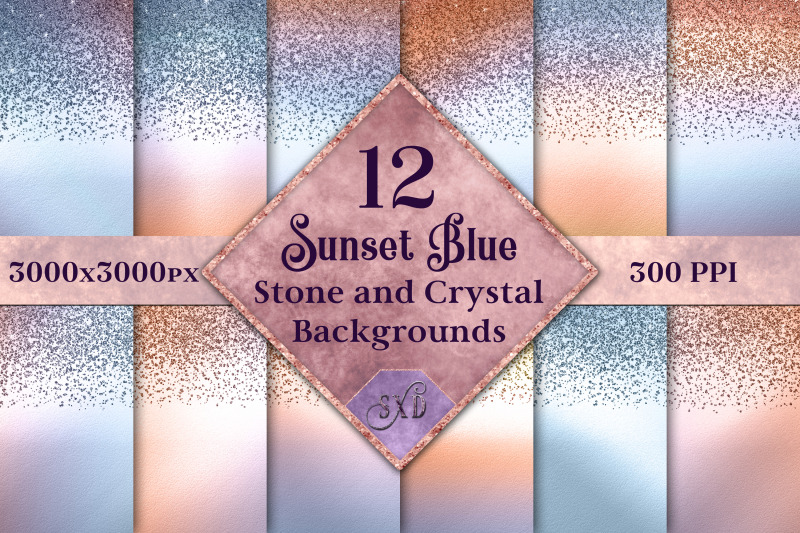 sunset-blue-stone-and-crystal-backgrounds-12-images