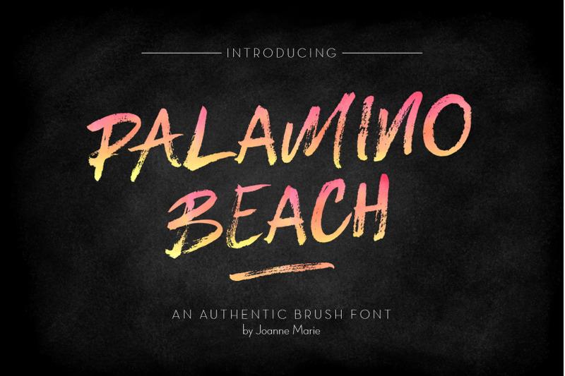 palamino-beach-brush-font