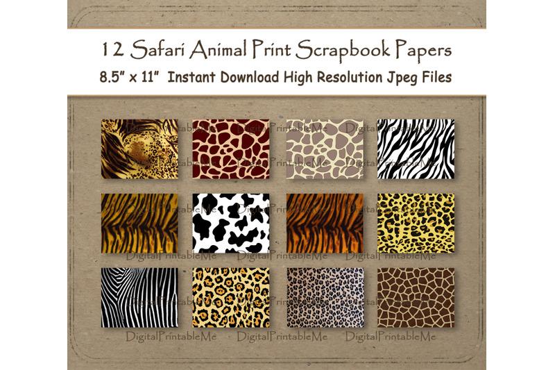 safari-digital-paper-8-5-quot-x-11-quot-animal-print-texture-scrapbook-paper-p