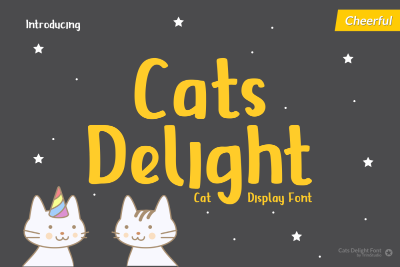 cats-delight-cat-display-font