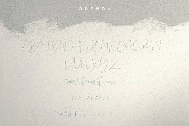 orenda-script-font