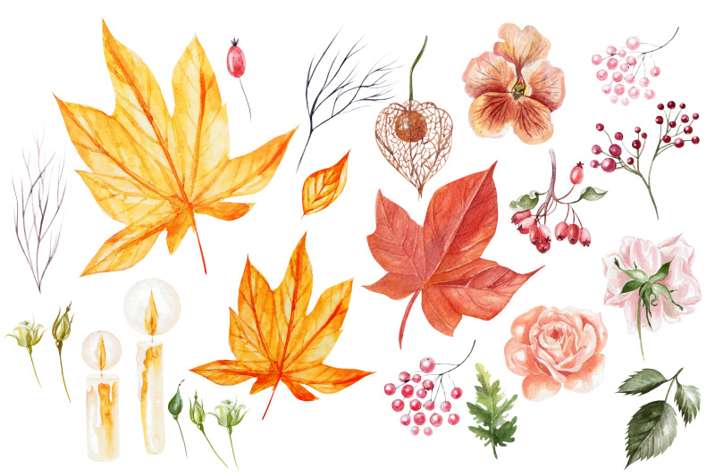 hand-drawn-watercolor-autumn