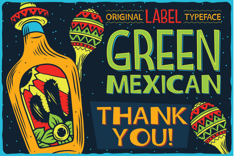 green-mexican-typeface