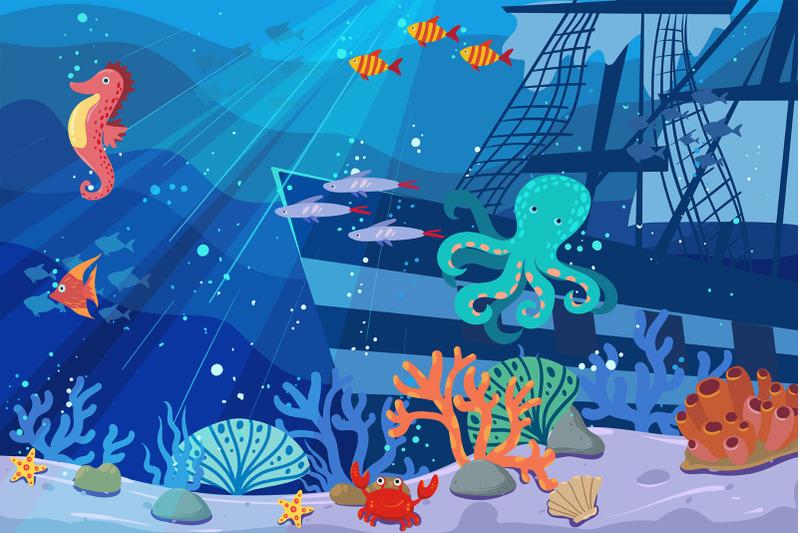 underwater-world-scene-background
