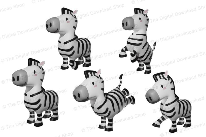 zebra-clipart-jungle-clipart-safari-clipart-african-animal-clipart