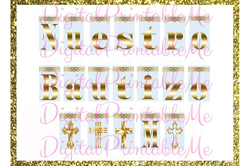 printable-nuestro-bautizo-mi-banner-blue-gold-baptism-sign-light