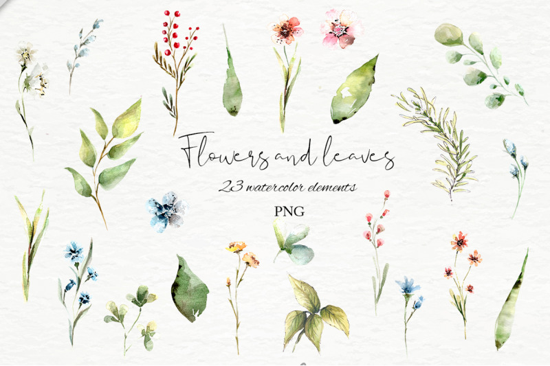 bunnies-spring-and-flowers-watercolor-collection