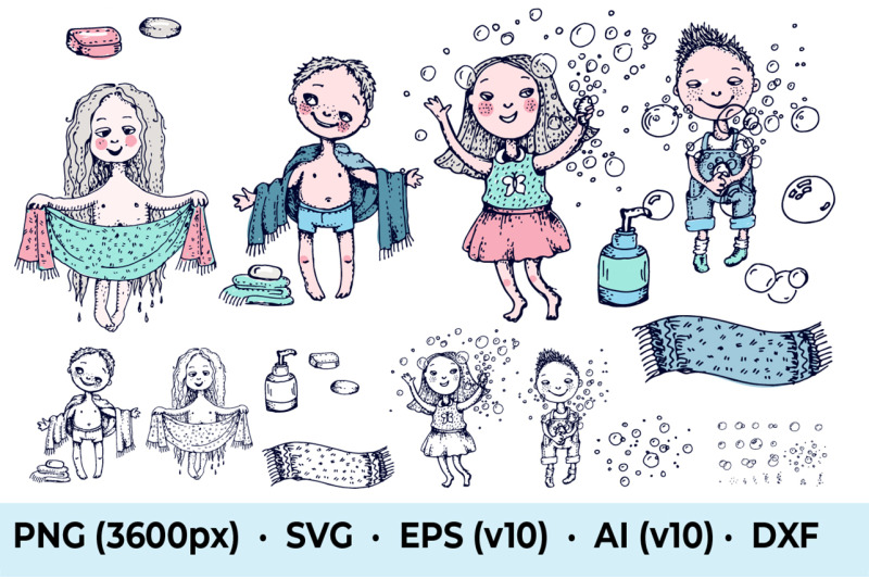 kids-shower-and-bubbles