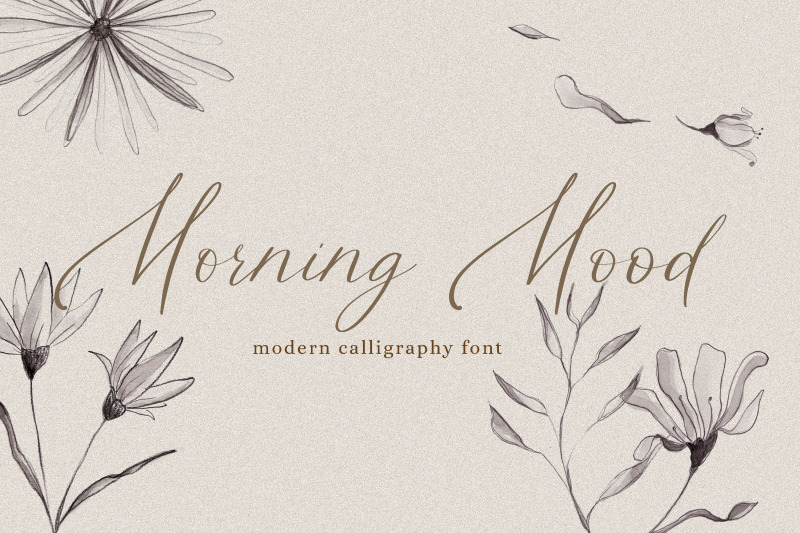 morning-mood-calligraphy-hand-written-font