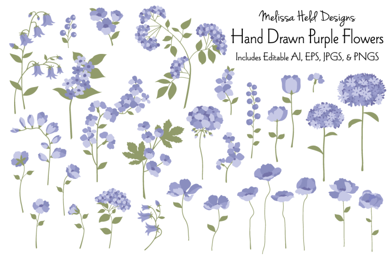 hand-drawn-purple-flowers