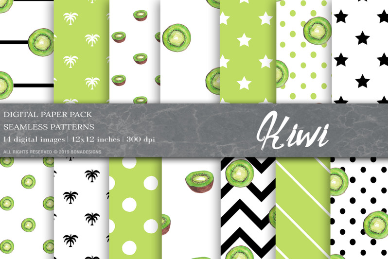 summer-fruit-digital-papers-kiwi-patterns