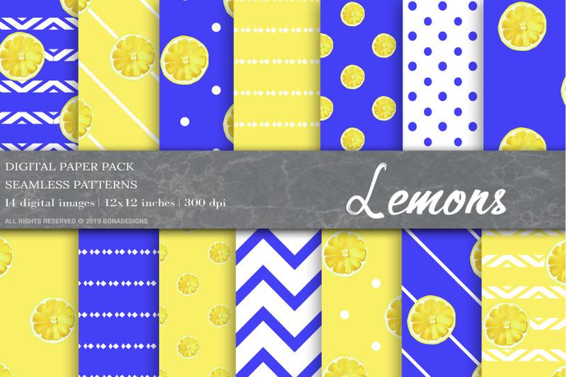 lemons-digital-papers-fruit-patterns