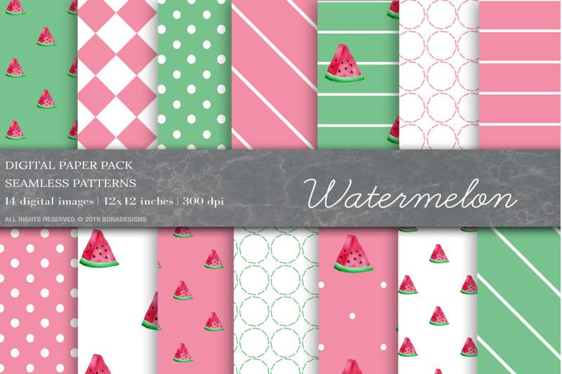watermelon-digital-papers-fruit-patterns
