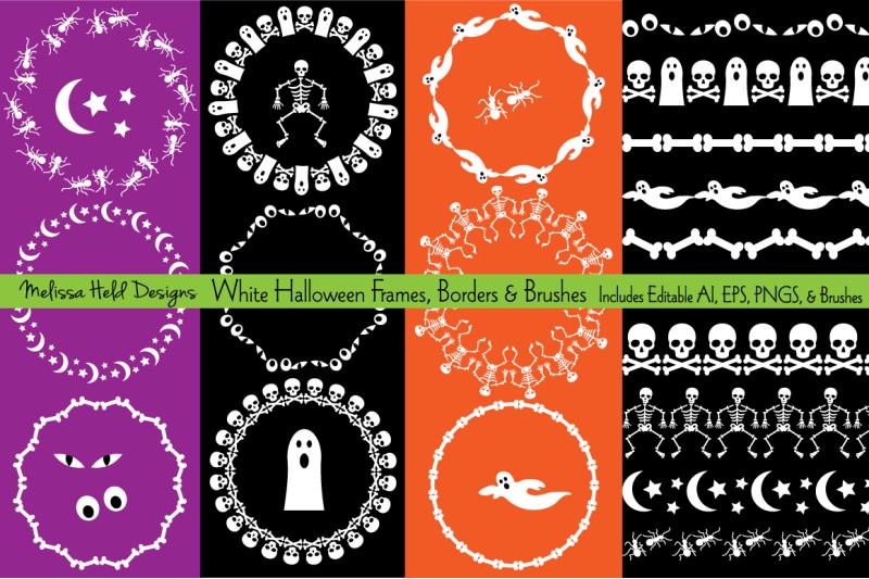 white-halloween-frames-amp-borders