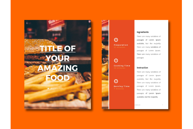 recipes-ebook-powerpoint-template