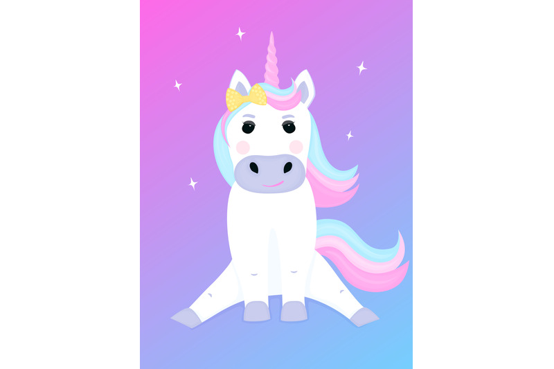cute-unicorn-with-a-bow