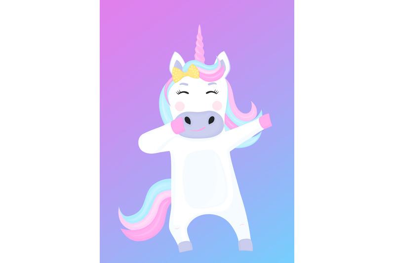 funny-unicorn-dabbing-cartoon-character