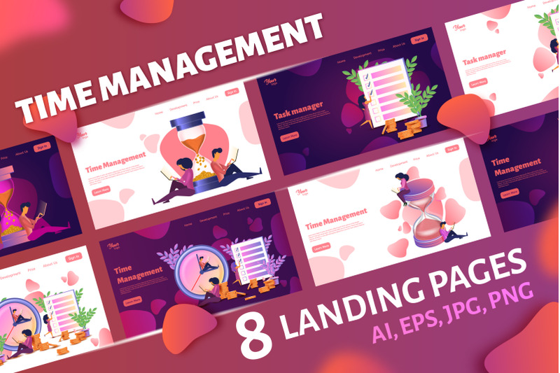 time-management-landing-pages