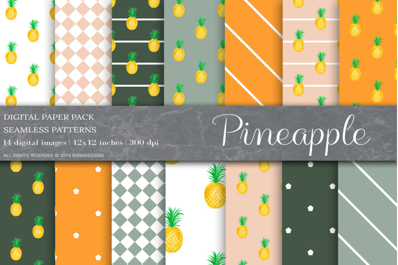 pineapple-digital-papers