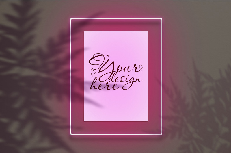 mockup-poster-in-a-neon-frame-with-a-pink-glow