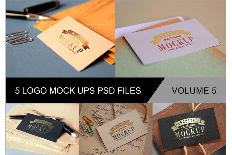 Free Photo Realistic Mock-ups Set of 5 V5 (PSD Mockups)
