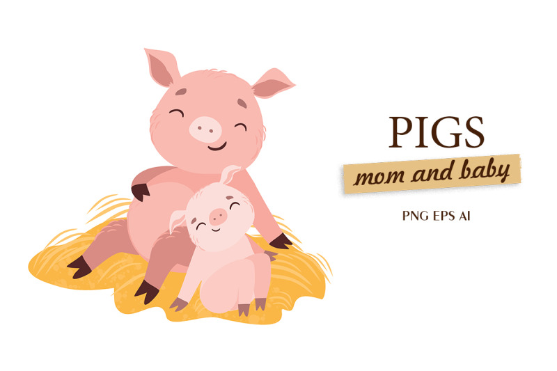 pigs-mom-and-baby-lovely-animals