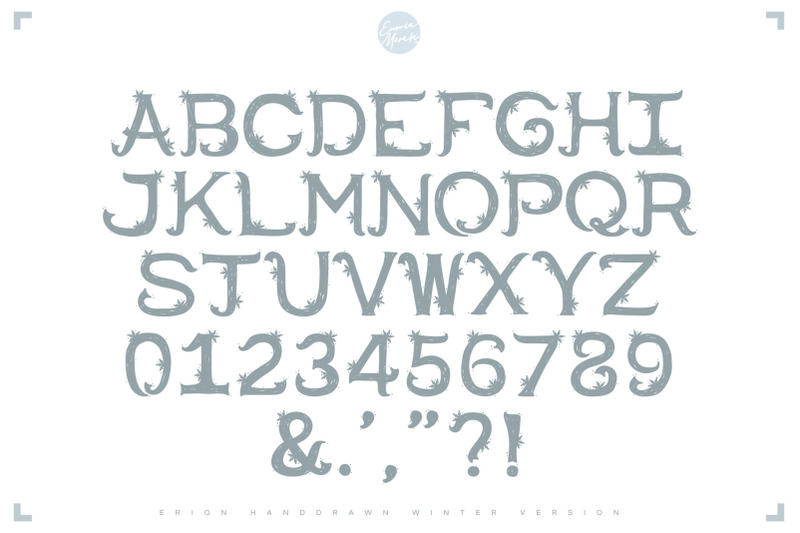 4in1-erion-font-christmas-winter-version