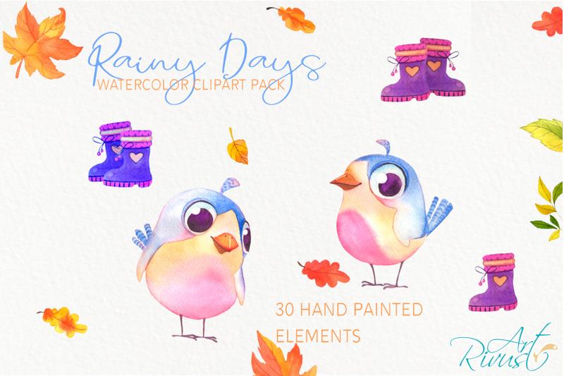 umbrellas-clipart-fall-watercolor-umbrella-with-raindrops-boots
