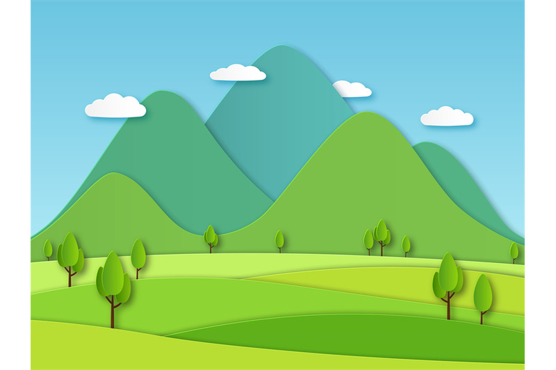 paper-field-landscape-summer-landscape-with-green-hills-and-blue-sky