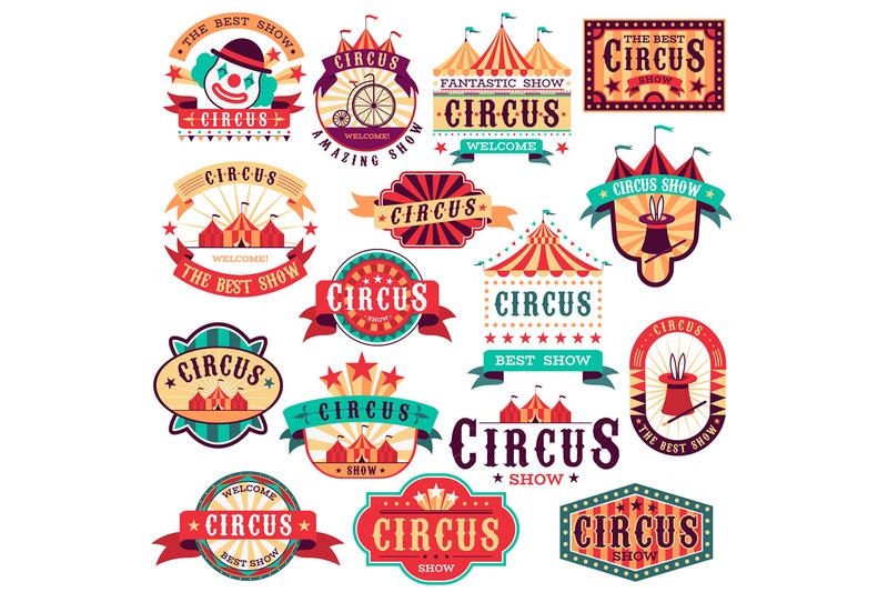 circus-labels-vintage-carnival-show-circus-signboard-entertaining-e