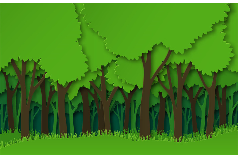 paper-forest-green-paper-cut-trees-silhouettes-natural-layered-lands