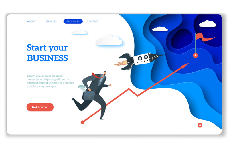 startup-landing-web-page-or-website-for-easy-start-up-strategy-creati