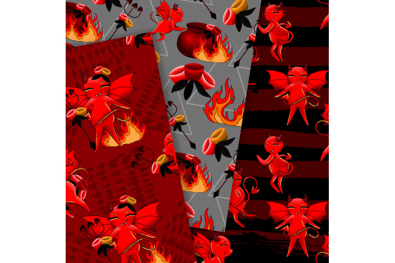 devil-seamless-patterns