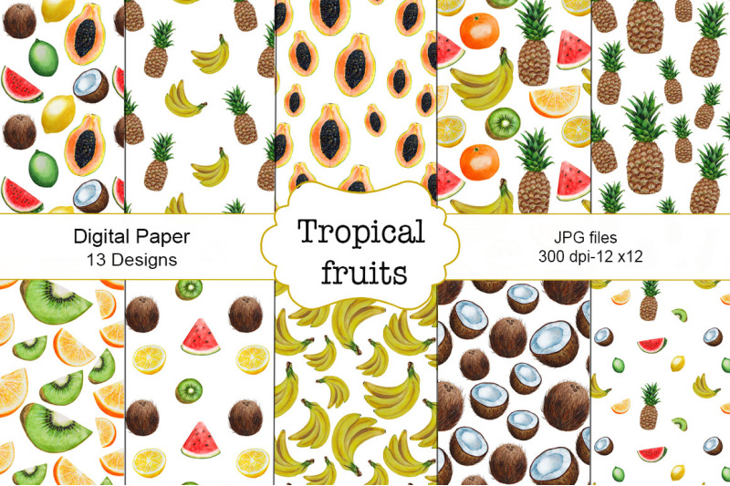 pattern-tropical-fruits