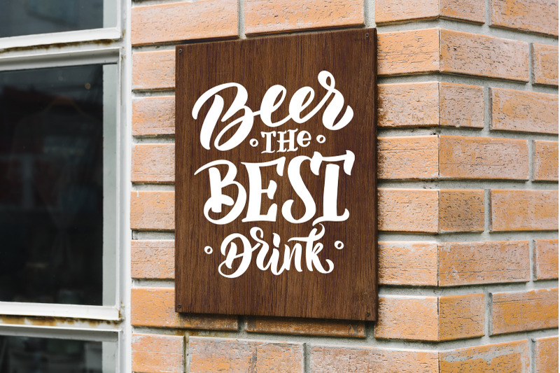 quot-beer-quot-hand-drawn-lettering-set