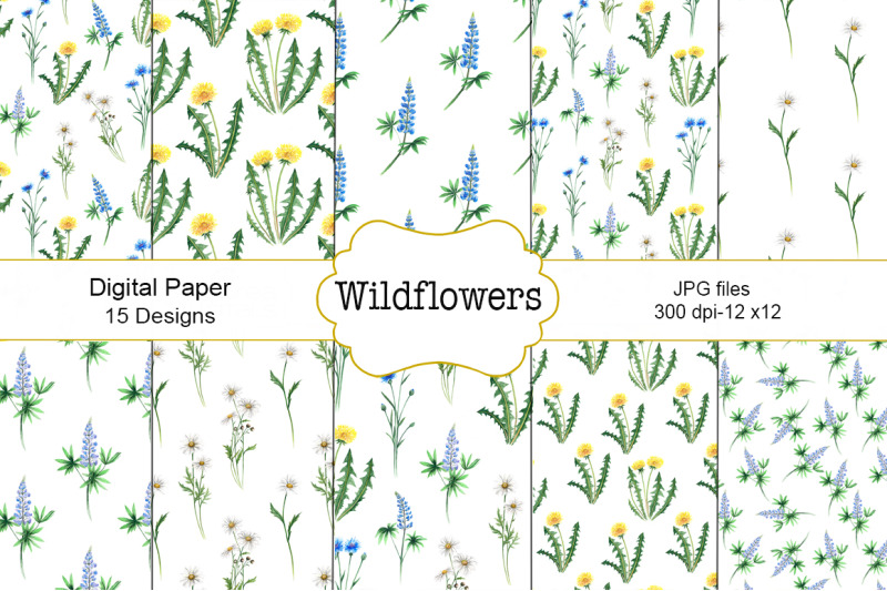 wildflowers-watercolor-pattern